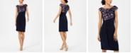 Connected Soutache Faux-Wrap Dress