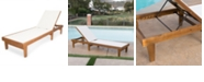 Noble House Summerland Outdoor Chaise, Quick Ship