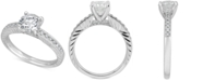 Macy's Diamond Engagement Ring (1-1/2 ct. t.w.) in 14k White Gold