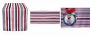 "Design Imports Patriotic Stripe Outdoor Table Runner 14"" X 72"""