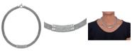 Macy's Diamond Dew Drop Bar Necklace in Sterling Silver (3/4 ct. t.w.)