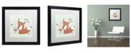 """Trademark Global Sylvie Demers 'Un Renard Dans La Cours' Matted Framed Art - 16"""" x 16"""" x 0.5"""""""