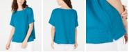 Eileen Fisher Textured Organic Cotton Top, Regular & Petite