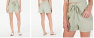 Gypsies & Moondust Juniors' High-Rise Linen-Blend Shorts