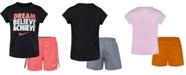 Nike Little Girls 2-Pc. Dri-FIT Dream Believe Graphic T-Shirt & Shorts Set