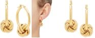 Italian Gold Love Knot Drop Earrings in 14k Gold