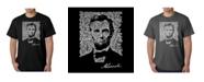 LA Pop Art Mens Word Art T-Shirt - Abraham Lincoln