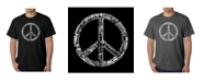 LA Pop Art Mens Word Art T-Shirt - Peace Sign in 77 Languages