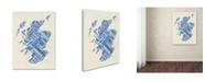 "Trademark Global Michael Tompsett 'Scotland Typography Text Map 5' Canvas Art - 14"" x 19"""
