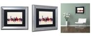 """Trademark Global Michael Tompsett 'Florence Italy Skyline' Matted Framed Art - 11"""" x 14"""""""