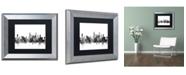 """Trademark Global Michael Tompsett 'Chicago Illinois Skyline B&W' Matted Framed Art - 11"""" x 14"""""""