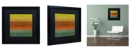 "Trademark Global Michelle Calkins 'Gold Line' Matted Framed Art - 16"" x 16"""