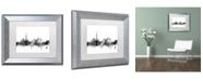 """Trademark Global Michael Tompsett 'Dubai Skyline B&W' Matted Framed Art - 11"""" x 14"""""""