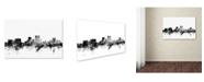 "Trademark Global Michael Tompsett 'El Paso Texas Skyline B&W' Canvas Art - 12"" x 19"""