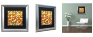"Trademark Global Michelle Calkins 'Sixty Four Quarters' Matted Framed Art - 16"" x 16"""