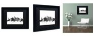 """Trademark Global Michael Tompsett 'New York City Skyline B&W' Matted Framed Art - 11"""" x 14"""""""