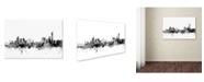 """Trademark Global Michael Tompsett 'Manchester England Skyline B&W' Canvas Art - 12"""" x 19"""""""