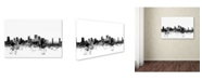 "Trademark Global Michael Tompsett 'Sacramento CA Skyline B&W' Canvas Art - 12"" x 19"""