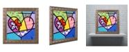 "Trademark Global Roberto Rafael 'Big Heart III' Ornate Framed Art - 11"" x 11"""
