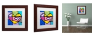 "Trademark Global Roberto Rafael 'Big Heart IV' Matted Framed Art - 11"" x 11"""