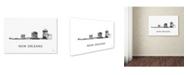 "Trademark Global Marlene Watson 'New Orleans Louisiana Skyline WB-BW' Canvas Art - 12"" x 19"""