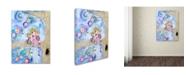 """Trademark Global Wyanne 'Big Eyed Girl Night Owls' Canvas Art - 14"""" x 19"""""""