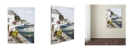 "Trademark Global The Macneil Studio 'Harbour Wall' Canvas Art - 14"" x 19"""