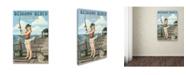 "Trademark Global Lantern Press 'Woman 1' Canvas Art - 12"" x 19"""