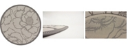 Bridgeport Home Pashio Pas4 Gray 6' x 6' Round Area Rug