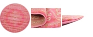 Bridgeport Home Aroa Aro8 Pink 6' x 6' Round Area Rug