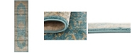 "Bridgeport Home Aroa Aro1 Teal 2' 7"" x 10' Runner Area Rug"