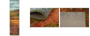 "Bridgeport Home Newwolf New2 Multi 2' 7"" x 10' Runner Area Rug"
