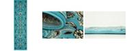 """Bridgeport Home Arnav Arn1 Turquoise 2' 2"""" x 8' 2"""" Runner Area Rug"""