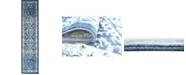 Bridgeport Home Masha Mas2 Navy Blue 3' x 13' Runner Area Rug