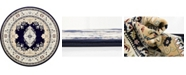 Bridgeport Home Zara Zar1 Navy Blue 10' x 10' Round Area Rug