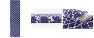 """Bridgeport Home Fazil Shag Faz4 Navy Blue 2' 7"""" x 10' Runner Area Rug"""