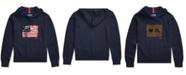 Polo Ralph Lauren Big Girls Sequin-Flag Cotton Sweater