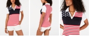 Tommy Hilfiger Printed Striped Cotton Polo, Created for Macy's