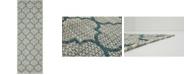 Bridgeport Home Pashio Pas5 Blue 2' x 6' Runner Area Rug