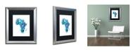 """Trademark Global Michael Tompsett 'Paint Splashes Map of Africa' Matted Framed Art - 16"""" x 20"""""""