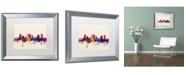 """Trademark Global Michael Tompsett 'Fort Worth Texas Skyline' Matted Framed Art - 16"""" x 20"""""""
