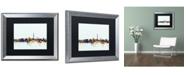 """Trademark Global Michael Tompsett 'Washington DC Skyline Blue' Matted Framed Art - 16"""" x 20"""""""