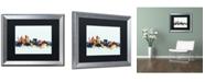 """Trademark Global Michael Tompsett 'Sydney Australia Skyline Blue' Matted Framed Art - 16"""" x 20"""""""