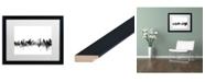 "Trademark Global Michael Tompsett 'Ottawa Canada Skyline B&W' Matted Framed Art - 16"" x 20"""
