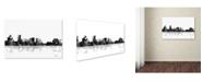 "Trademark Global Marlene Watson 'Salem Oregon Skyline BG-1' Canvas Art - 16"" x 24"""