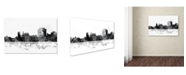"Trademark Global Marlene Watson 'Trenton New Jersey Skyline BG-1' Canvas Art - 16"" x 24"""