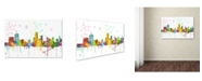 "Trademark Global Marlene Watson 'Newark New Jersey Skyline Mclr-1' Canvas Art - 16"" x 24"""