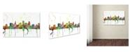"Trademark Global Marlene Watson 'St Paul Minnesota Skyline Mclr-1' Canvas Art - 16"" x 24"""
