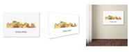 "Trademark Global Marlene Watson 'Oakland California Skyline WB-1' Canvas Art - 16"" x 24"""