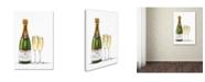 "Trademark Global The Macneil Studio 'Champagne Bottle and Glasses' Canvas Art - 16"" x 24"""